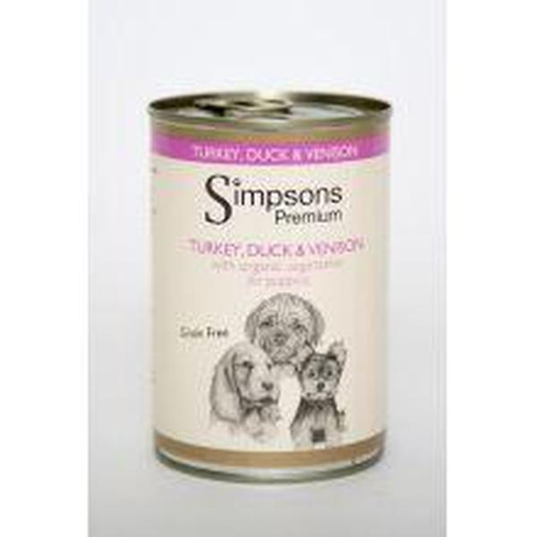 Simpsons Puppy Turkey / Venison / Duck, 400g X 6