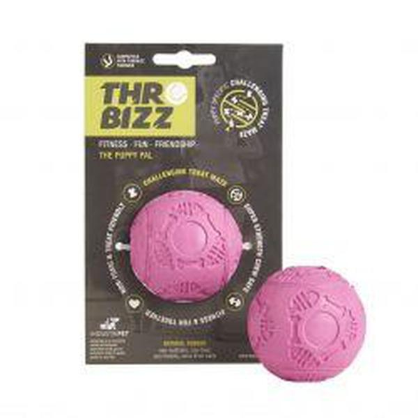 Throwbizz Puppy Treat Ball, pink