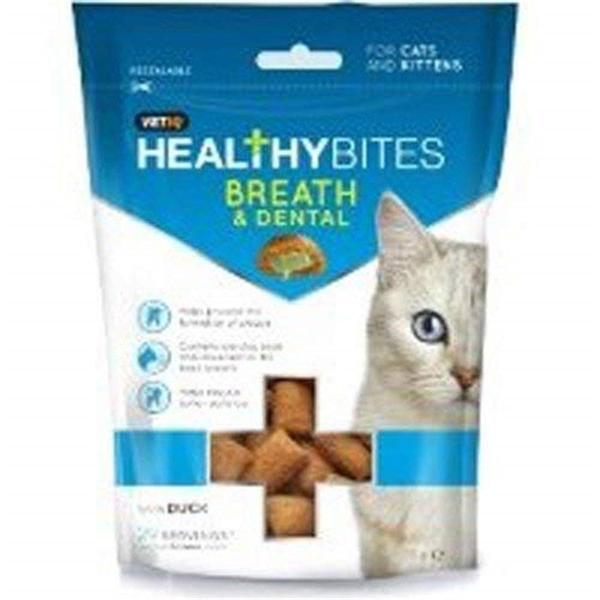VETIQ Breath & Dental Cat Treats, 65g