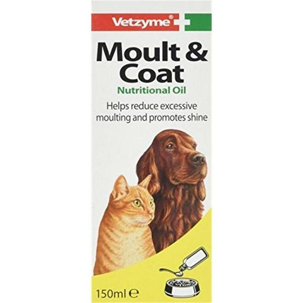 Vetzyme Moult & Coat Oil, 150ml