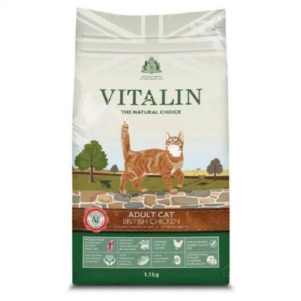Vitalin Natural Adult Cat Chicken, 1.5kg