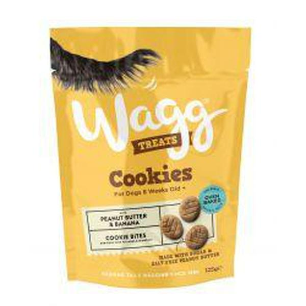 Wagg Cookie Peanut & Banana, 7 packs of 125g X 7