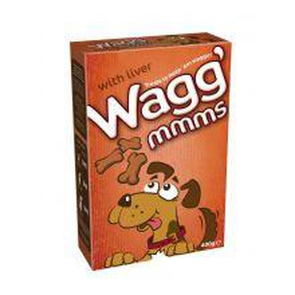 Wagg' Mmms Dog Biscuits Liver, 5 packs of 400g X 5