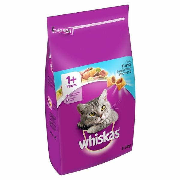 Whiskas 1+ Cat Complete Dry with Tuna 3.8kg