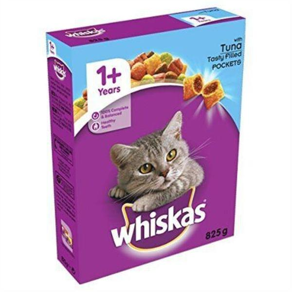 Whiskas 1+ Cat Complete Dry with Tuna, 825g