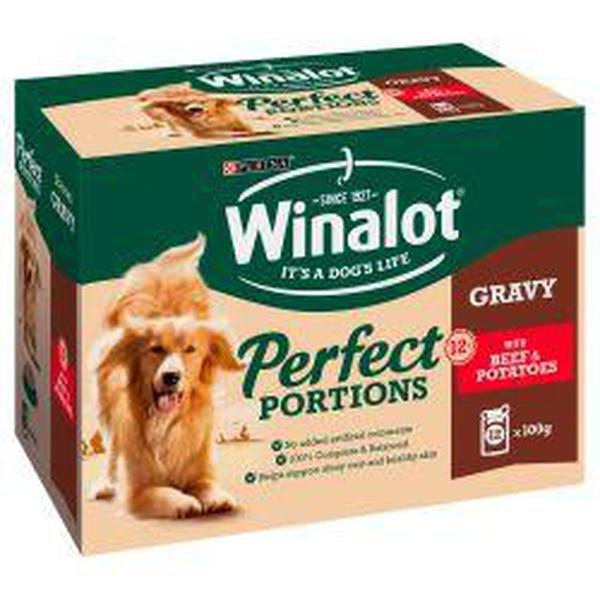 Winalot Perfect Portions Beef & Potato in Gravy 12 pack, 100g