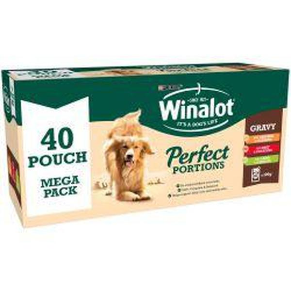 Winalot Perfect Portions Pouch Mixed Chunks in Gravy 40pk, 100g