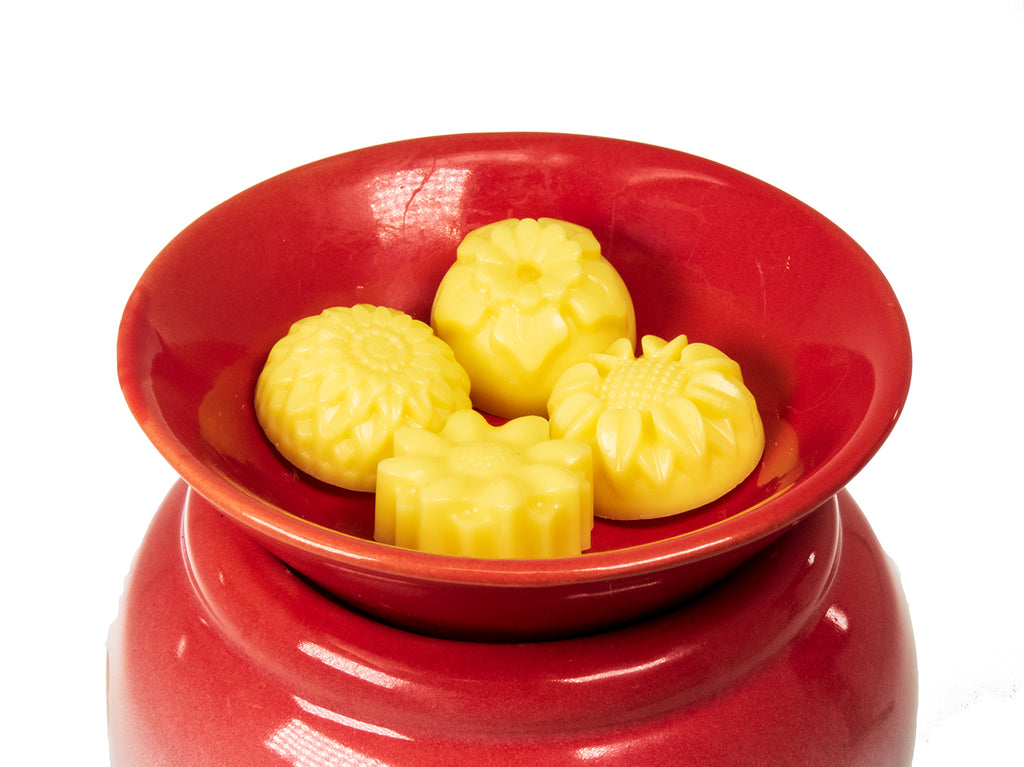 Honey Suckle scented wax melts on candle warmer