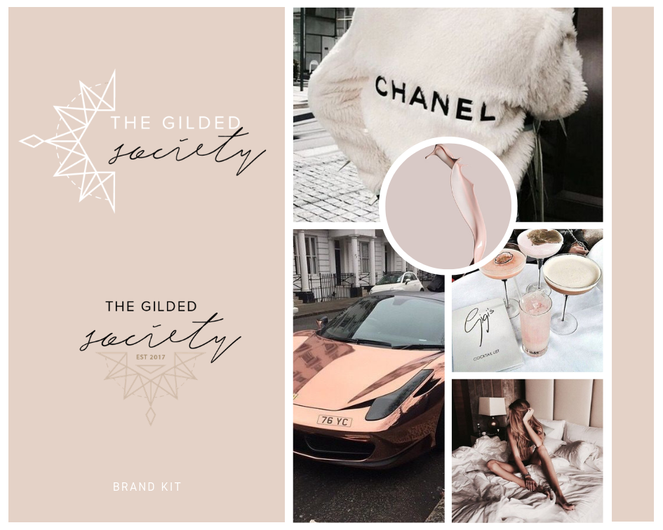 THE GILDED SOCIETY Logo + Design Kit
