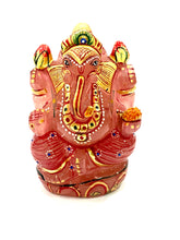 Load image into Gallery viewer, rose-quartz-gemstone-ganesha-idol-1