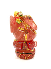 Load image into Gallery viewer, rose-quartz-gemstone-ganesha-idol-3