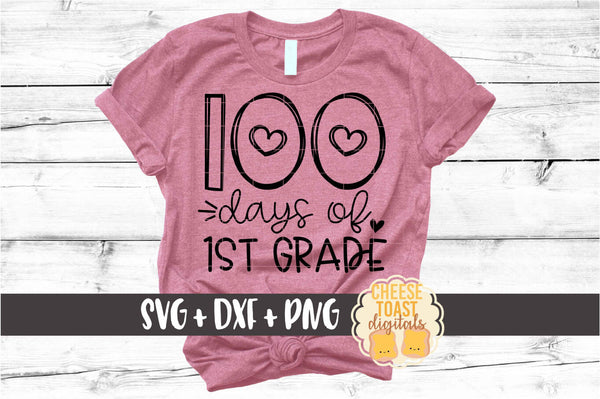 100 Days Of School Heart Bundle - 10 Designs