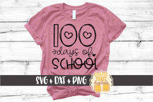 100 Days of School - Hearts
