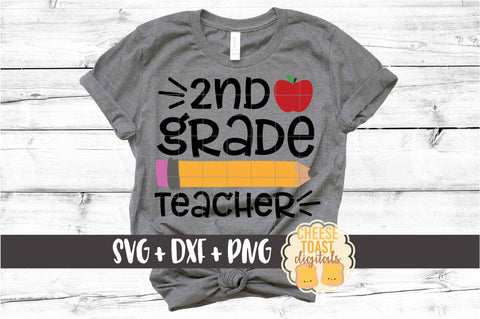 2nd Grade Teacher - Pencil and Apple