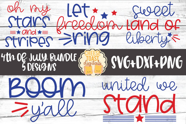 4th of July Bundle - 5 Designs