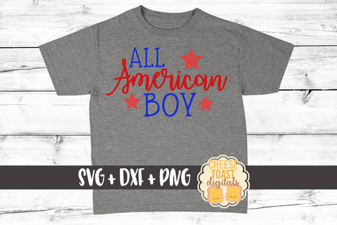All American Boy - SVG, PNG, DXF