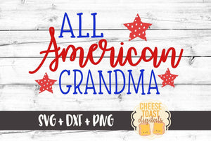 All American Grandma - SVG, PNG, DXF