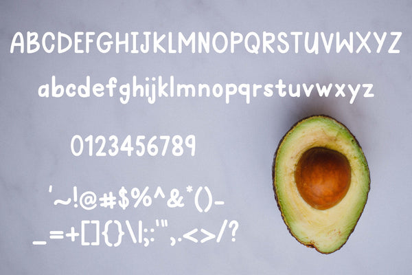 Avocado Toast: A Hand-Lettered Breakfast Font - SVG, PNG, DXF
