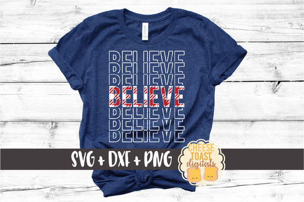 Believe - Buffalo Plaid Christmas Mirror Word