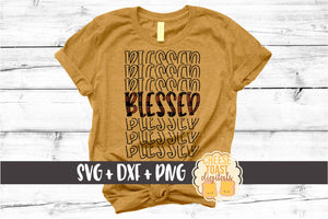 Blessed - Buffalo Plaid Thanksgiving Mirror Word
