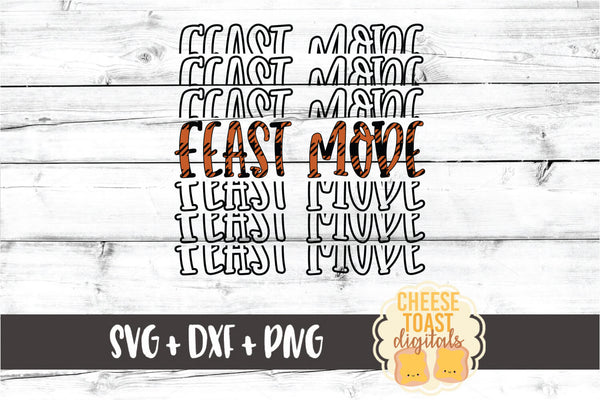 Feast Mode - Buffalo Plaid Thanksgiving Mirror Word