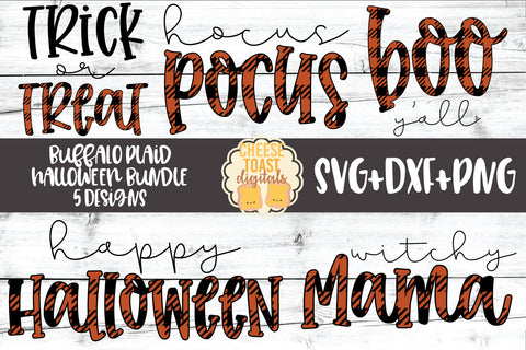 Buffalo Plaid Halloween Bundle - 5 Designs