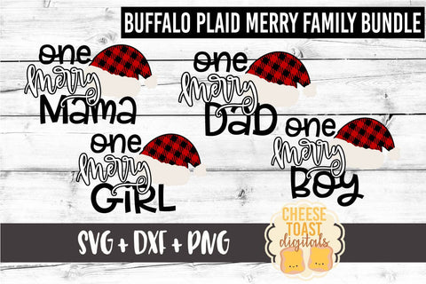 Buffalo Plaid Family Christmas Bundle