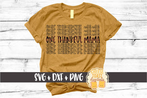 One Thankful Mama - Buffalo Plaid Thanksgiving Mirror Word