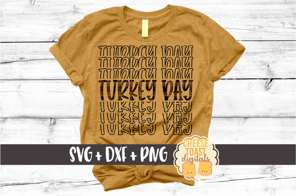 Turkey Day - Buffalo Plaid Thanksgiving Mirror Word