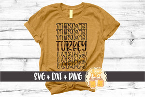 Turkey - Buffalo Plaid Thanksgiving Mirror Word