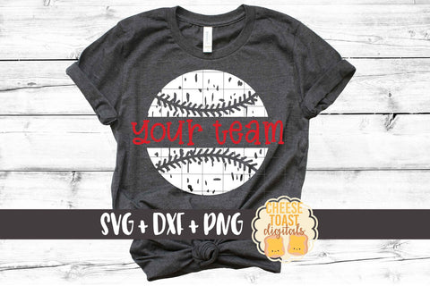Personalized Distressed Baseball