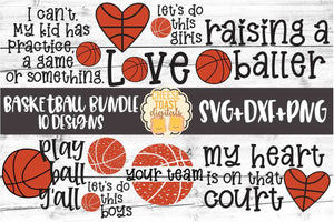 Basketball SVG Bundle - 10 Designs