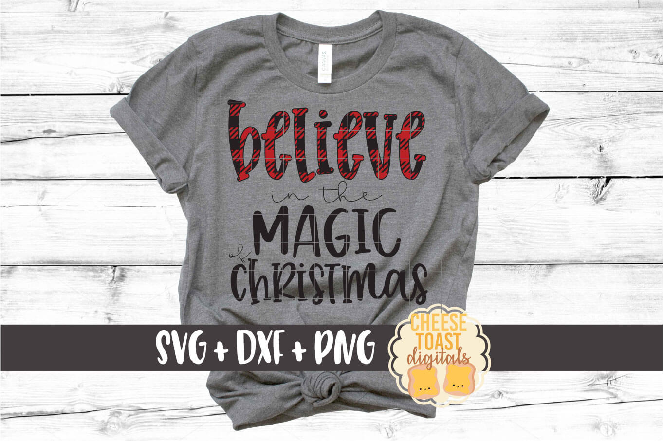 Believe In The Magic of Christmas - Buffalo Plaid