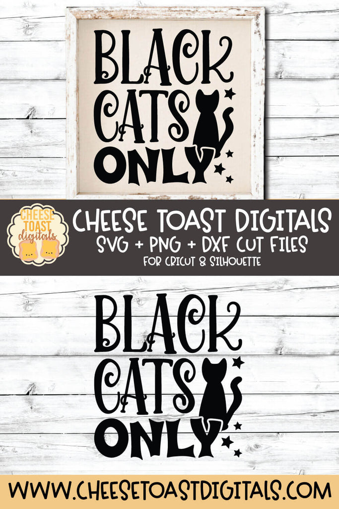 Black Cats Only Svg Free And Premium Svg Files Cheese Toast Digitals