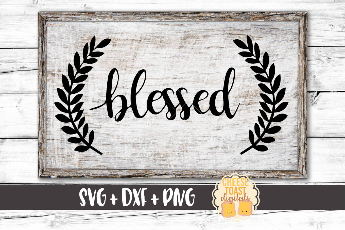 Blessed with Laurels - SVG, PNG, DXF