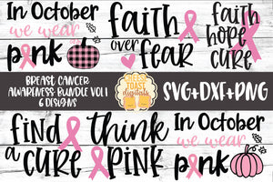 Breast Cancer Awareness Bundle Vol 1 - 6 Designs