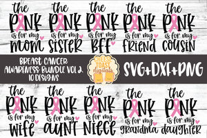 Breast Cancer Awareness Bundle Vol 2 - 10 Designs