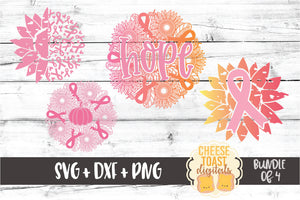 Breast Cancer Awareness Mandala Bundle - 4 Designs