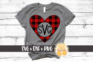 Heart Monogram - Buffalo Plaid
