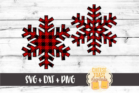 Snowflake Set of 2 - Buffalo Plaid