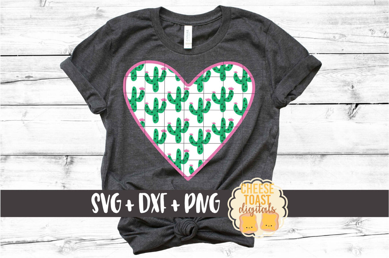 Cactus Pattern Heart