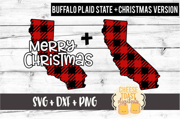 California - Buffalo Plaid Merry Christmas