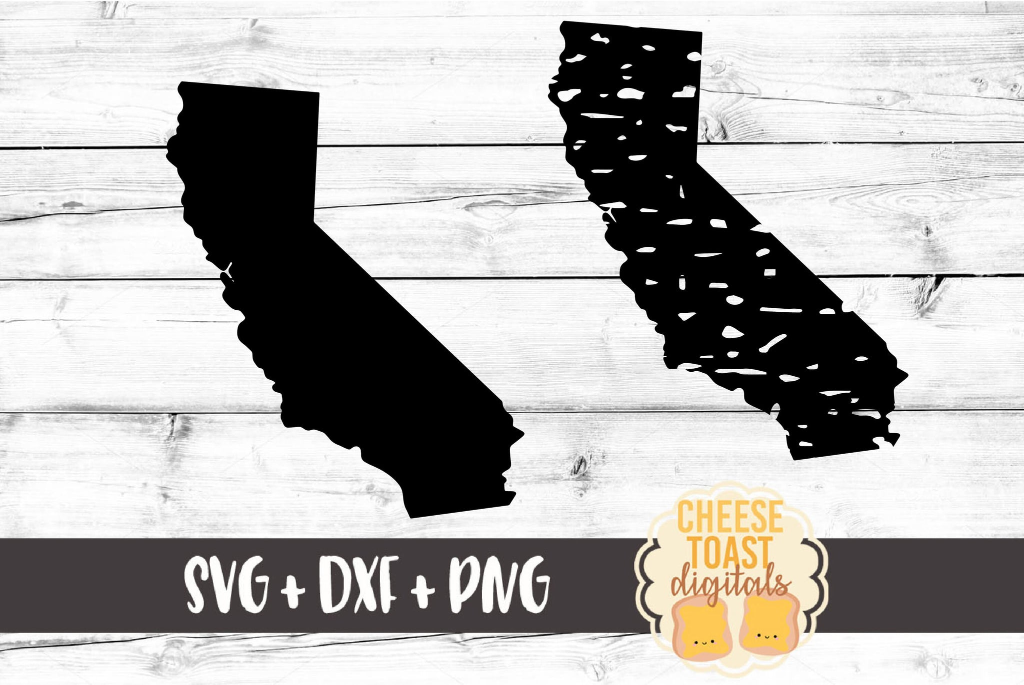 California - Grunge and Solid - SVG, PNG, DXF