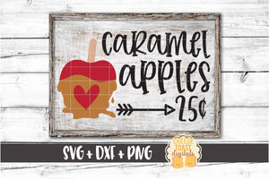 Caramel Apples 25 Cents