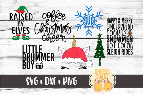 Christmas Bundle - 23 Designs - SVG, PNG, DXF