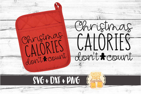 Christmas Calories Don't Count - Pot Holder Design