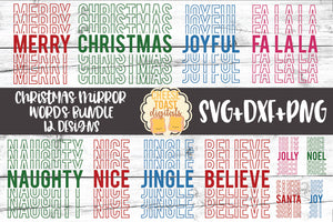 Christmas Mirror Words Bundle - 12 Designs
