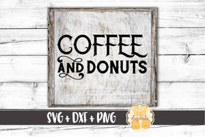 Coffee and Donuts - SVG, PNG, DXF