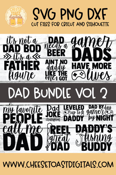 Dad Bundle Vol 2 - 10 Designs