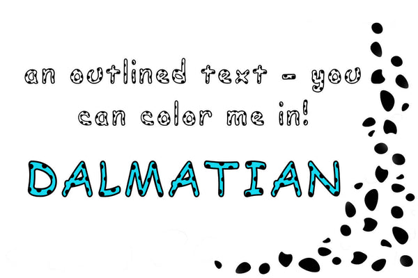 Dalmatian: A Spotted Font - SVG, PNG, DXF